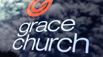 Grace Church vinyl decal cut by Websticker