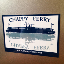Chappy Ferry sticker printed by Websticker