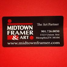 Midtown Framer sticker label printed by Websticker