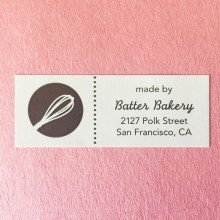 Customized Paper Roll Labels for Batter Bakery by Websticker